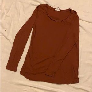 Burnt sienna long sleeve top